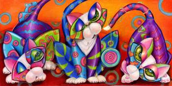 Party Animals Kitty Style, by Alma Lee