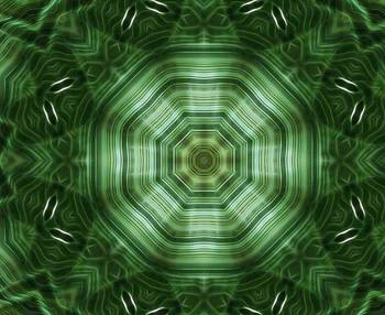 Green Stripes Kaleidoscope Art 4