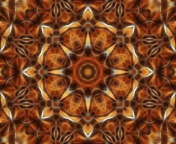 Brown Tan Gold Kaleidoscope Art 9