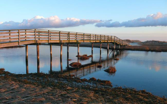 Ridgevale Beach Bridge Panorama