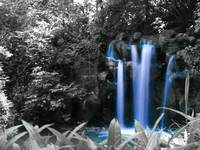 Blue Falls by Hunter Productions Fine Art