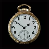 Art Deco Gold Pocket Watch