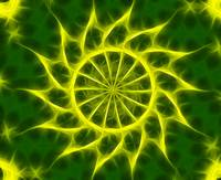 Yellow Green Kaleidoscope Art 3