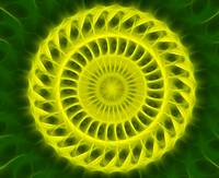 Yellow Green Kaleidoscope Art 4