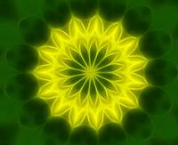 Yellow Green Kaleidoscope Art 5