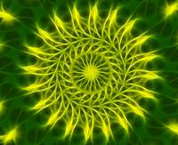 Yellow Green Kaleidoscope Art 1