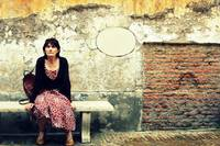 Italian Woman at a Bench