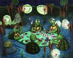 Turtle Poker Game Posters