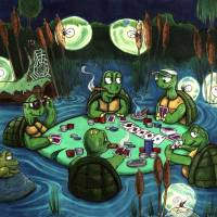 Turtle Poker Game Art Prints & Posters by Joe Di Guiseppi