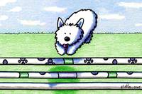 Westie The Dog Agility