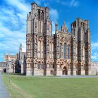 Wells Cathedral, West Front by Priscilla Turner