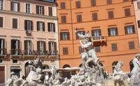 Piazza Navona-fountains by  Gian Lorenzo Bernini