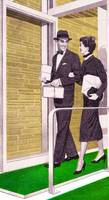 Shopping Couple, 1950s The Stanley Works ad detail