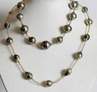 Tahitian Sea Pearls with 18K Gold