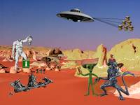 Alien Tourists in Hell