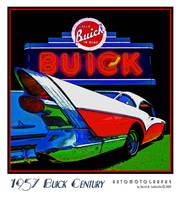 1957 Buick Century with Sign