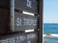 Saint Tropez Beach Sign