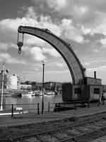 An Old Steam Crane In Bristol Docks