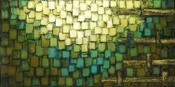 Geometric Blue Brown Abstract
