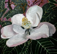 magnolia acrylic flower painting print