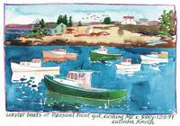 Lobster Boats at Pleasant Point Gut, Cushing Maine