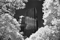 Infra red, trump tower aol building from central p