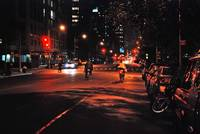Bicycles in the night (NYC)