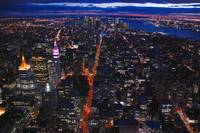 Veins of lava (Manhattan by night) new york