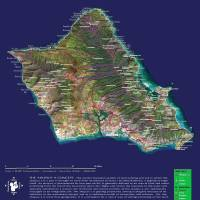 """Hawaiian Ahupuaa Map of Oahu"" by kauaianken"