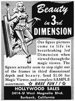 3-D Beauty, 1953 Magic Viewer ad