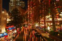 Riverwalk at Christmastime