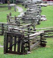 Spilt Rail Fence with Gate
