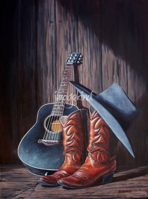 Boots Print By Afbranco