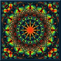 Green Glow Kaleidoscope 1