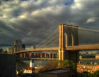 Brooklyn Bridge w/ clouds (#3)
