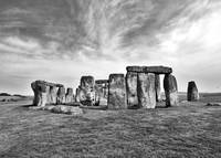 Stonehenge in Black and White