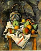 La Vase Paillé by Paul Cezanne