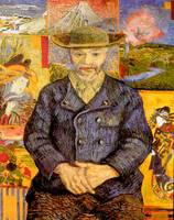 Portrait of Pere Tanguy by Vincent Van Gogh