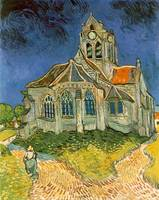 The Church At Auvers sur Oise by Vincent Van Gogh