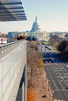 View of Pennsylvania Ave and the US Capitol from t