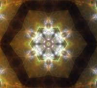 Golden Brown Glow Kaleidoscope Art 1
