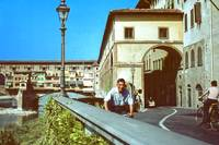 Florence with Ponte Vecchio, Italy, Summer 1961 by Priscilla Turner
