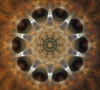 Golden Brown Glow Kaleidoscope Art 4