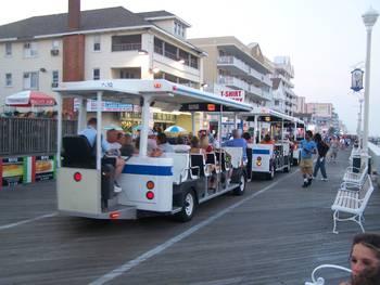 Ocean City Boardwalk Trolley By Ken Lookhart
