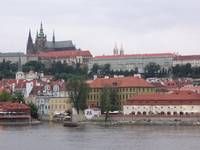 Vltava River and Castle, Prague, Czech Republic