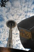 Space Needle, Clouds, And Experience Music Project
