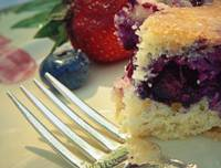 berries and cake