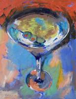 Martini Oil Painting