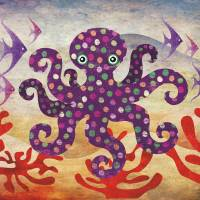 Octavius the Octopus Art Prints & Posters by SANDRA VARGAS