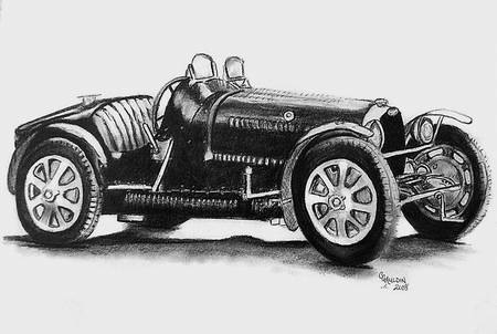 Classic Car,1928 T35B Bugatti Grand-Prix by Carol Gauldin